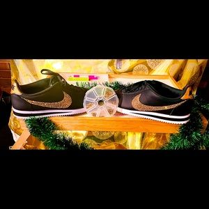 Sz 8 Blinged gold (by me) Nike Cortez
